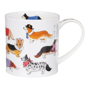 Dunoon Dashing Dogs Corgi Orkney Shape Mug