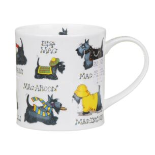 Machoots Scottie Dogs Orkney Shape Mug