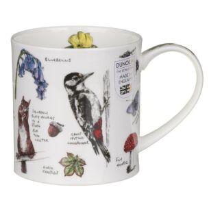 Country Notebook Woodland Orkney Shape Mug