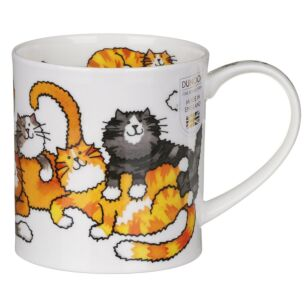 Dunoon Jumbled Cats Orkney Shape Mug