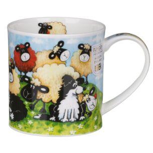 Silly Sheep Brown Orkney Shape Mug