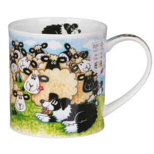 Silly Sheep Flock Orkney Shape Mug
