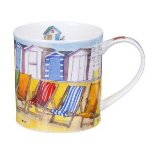 Seaside Deckchairs Orkney Shape Mug