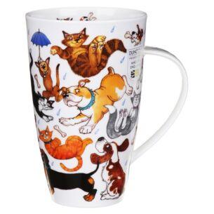 Raining Cats And Dogs Henley shape Mug