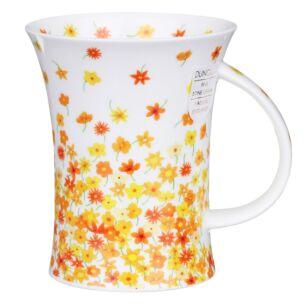 Dunoon Fleurette Yellow Richmond Shape Mug
