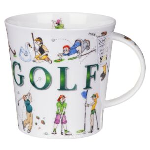 Sporting Antics Golf Cairngorm Shape Mug