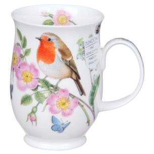 Hedgerow Birds Robin Suffolk Shape Mug