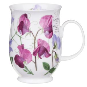 Dunoon Sweet Peas Dark Pink Suffolk Shape Mug