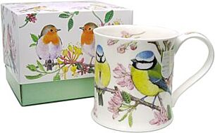 The Birdlife Collection Blue Tit Wessex Shape Boxed Mug