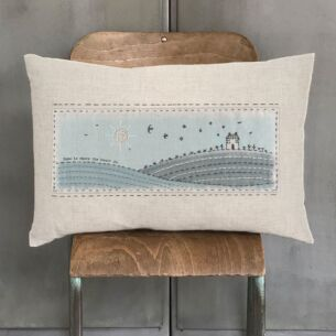 'Home Is Where The Heart' Is Embroidered Cushion