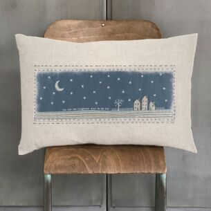 'You Are The Brightest Star' Embroidered Cushion