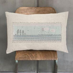 'Look Towards The Sun' Embroidered Cushion