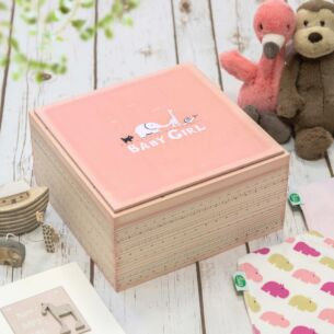 Pink 'Baby Girl' Keepsake Box