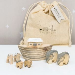 Noah's Ark Set in Cotton Bag