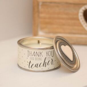 Thank You Teacher Scented Tin Candle