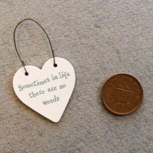 'No Words' Little Heart Sign