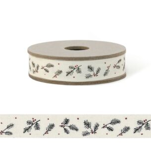 East of India 'Cream Berry' 3m Decorative Ribbon