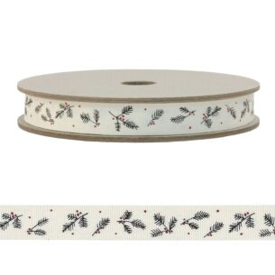 East of India 'Cream Berry' 20m Decorative Ribbon