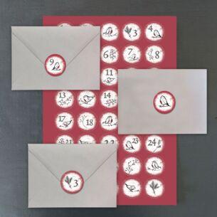 Red Robin Advent Sticker Set
