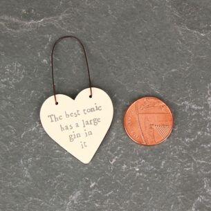 'Best Tonic' 3cm Little Heart On Wire
