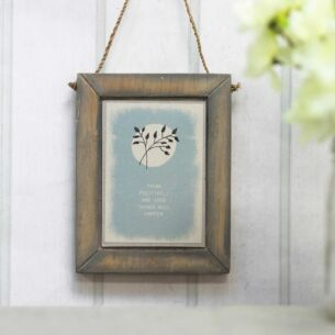 'Think Positively' Hanging Flower Picture