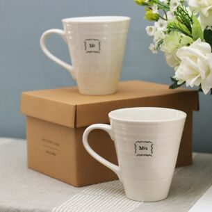East of India Mr & Mrs Boxed Mug Set
