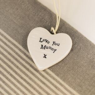 Love You Mummy Porcelain Heart