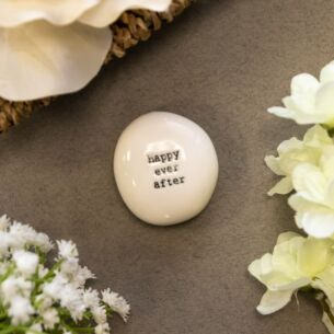 East of India 'Happy Ever After' Sentimental Pebble
