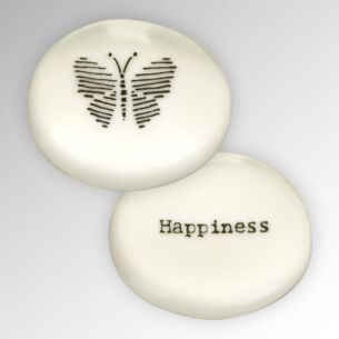 East of India 'Happiness' Sentimental Pebble