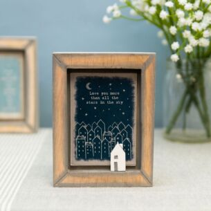 'Love You More' Box Frame