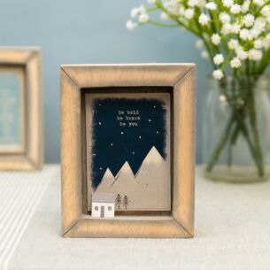 East of India 'Be Bold Be Brave' Box Frame