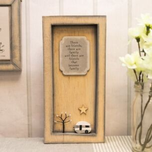 'Friends and Family' Standing Wooden Frame