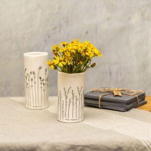 Wild Flowers Porcelain Vase