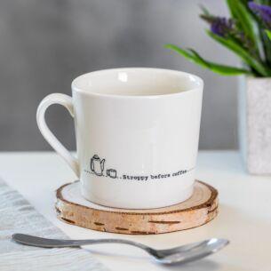 'Stroppy Before Coffee' Wobbly Porcelain Boxed Mug