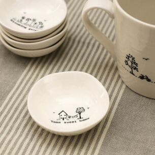 East of India 'Home Sweet Home' Small Wobbly Bowl