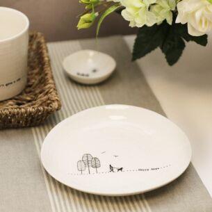 'Happy Days' Wobbly Porcelain Plate