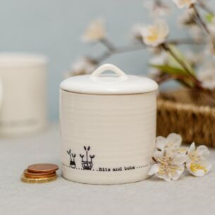 'Bits and Bobs' Lidded Porcelain Pot