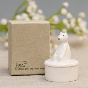 Polar Bear Little Porcelain Pot
