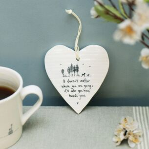 'Beside You' Porcelain Heart