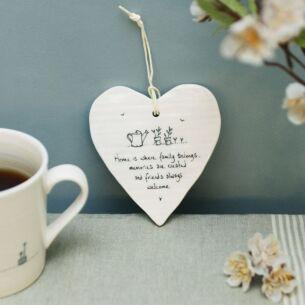 'Home is Where' Porcelain Heart