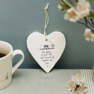 'Our Family' Porcelain Heart