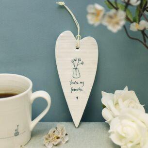 'You're My Favourite' Long Porcelain Heart