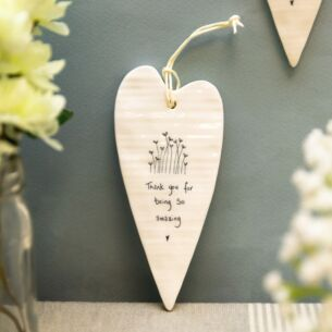 'Thank You' Long Hanging Heart