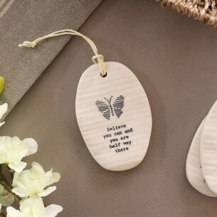 'Believe You Can' Porcelain Hanger