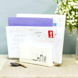 Boxed Houses Porcelain Letter Rack