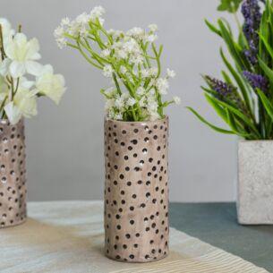 Dimpled Spot Medium Hand Painted Vase