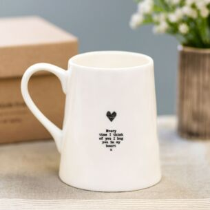 'Every Time I Think Of You' Porcelain Boxed Mug