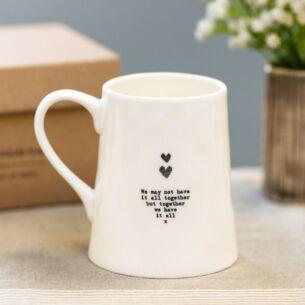 'We May Not' Heart & Kisses Porcelain Boxed Mug