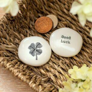 'Good Luck' Sentimental Pebble