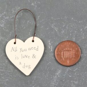 Love & Dog - 3cm Little Heart on Wire